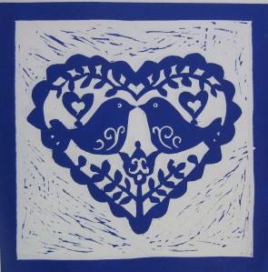 Love Birds blue