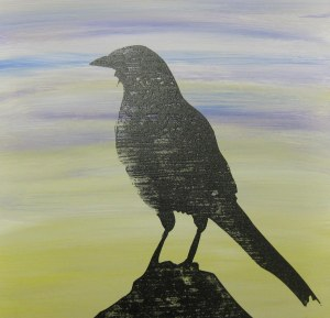 The Magpie on acrylics and board