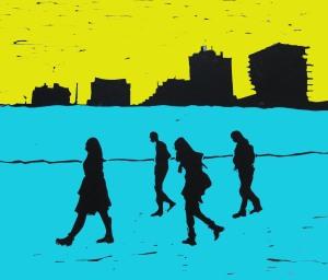 brighton beach blue and yellow