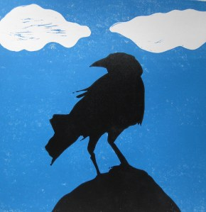 The Crow blue skies