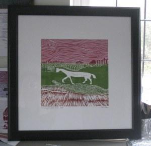 White Horse in frame