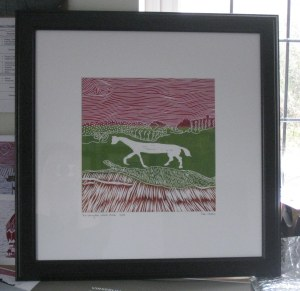 White Horse in frame