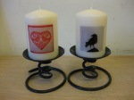 Love Birds and Crow Candles