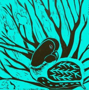 Xmas Partridge blue