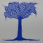 Tree of Life Linocut
