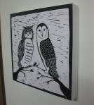 Night Birds on canvas