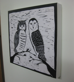 Night Birds on canvas