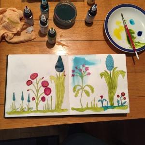 Sketch book flowers 3