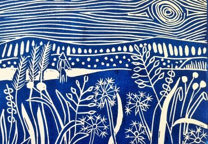 Dandelion Field Postcard Print