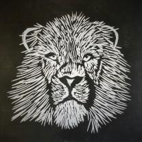Lion Lino Print