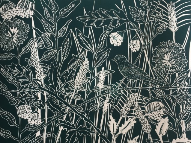 Hedgerow Heaven Teal Sue Collins